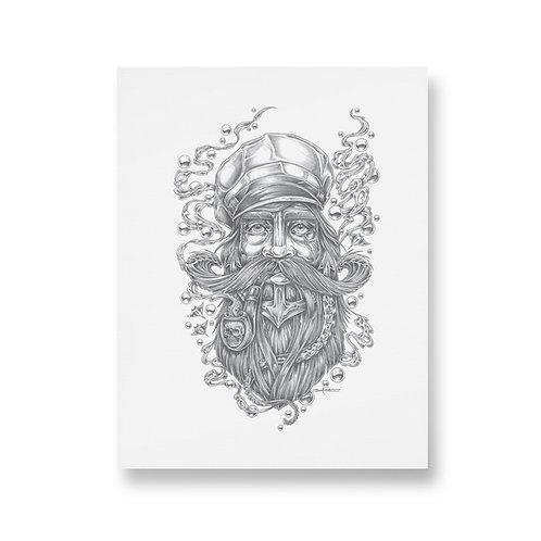 SEA CAPTAIN - Unframed Washi Print - A3