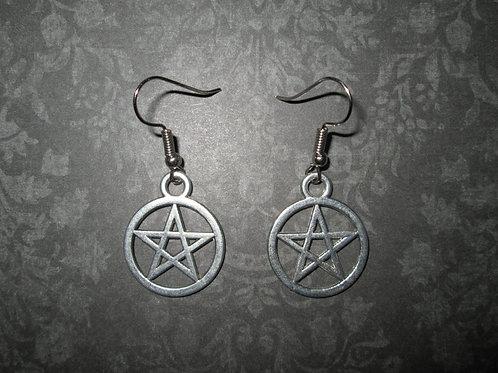 Medium Pentagram Earrings