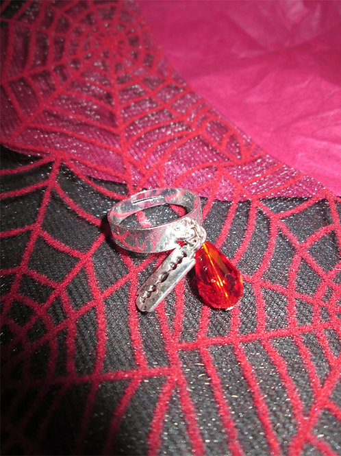 Razor Blade and Blood Drop Ring