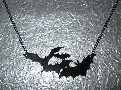 Black Acrylic Bat Necklace (Quartet)