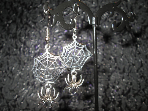 Spider Web and Spider Earrings