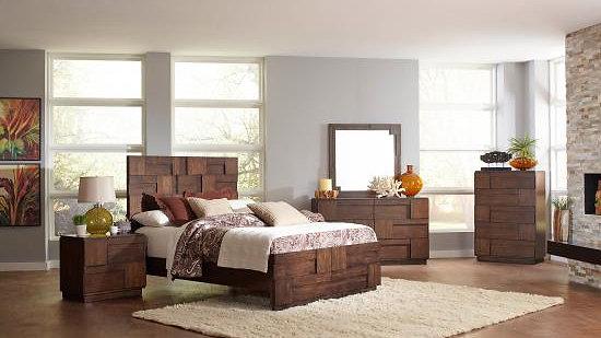 Gallagher Golden Brown Bedroom Set
