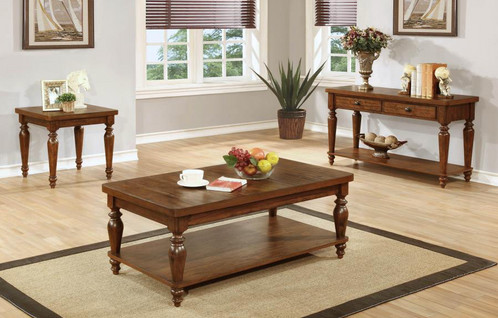 Rustic Brown Coffee Table - Coffee table depth