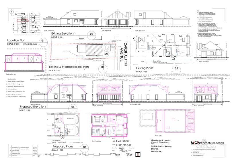 01.01 REV C - Proposed Plans and Elevati