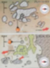 Карта дайвинг сайта Pottery и 3 Rocks