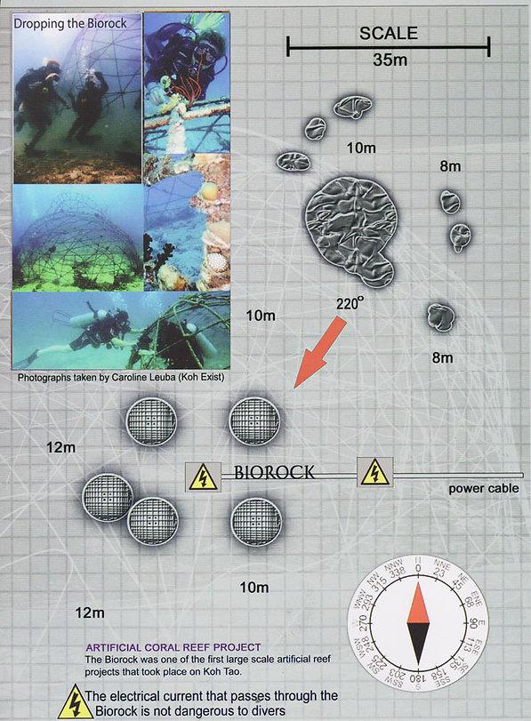 Карта дайвинг сайта Biorock