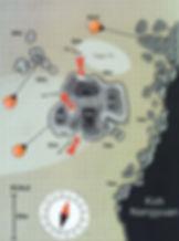 Карта дайвинг сайта Green Rock
