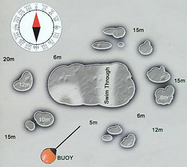 Карта дайвинг сайта Koh Yippon