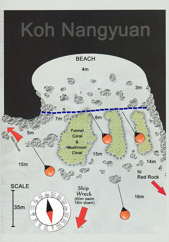 Карта дайвинг сайта Japanese Garden
