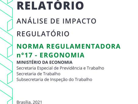 Relatório: Análise de Impacto Regulatório - Norma Regulamentadora nº17 Ergonomia