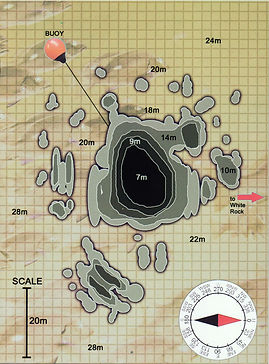 Карта дайвинг сайта Hin Pee Wee