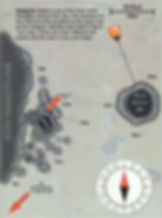 Карта дайвинг сайта Red Rock
