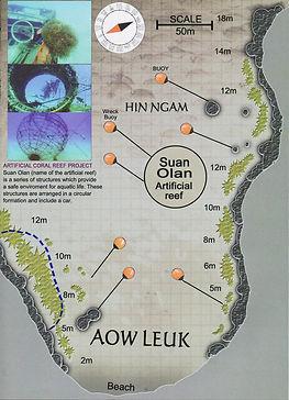 Карта дайвинг сайта Aow Leuk
