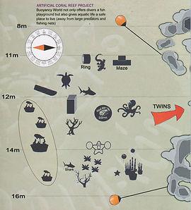 Карта дайвинг сайта Buoyancy World