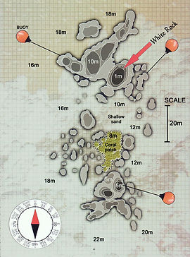 Карта дайвинг сайта White Rock