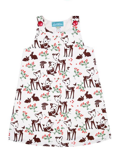 Cream Deer Dress