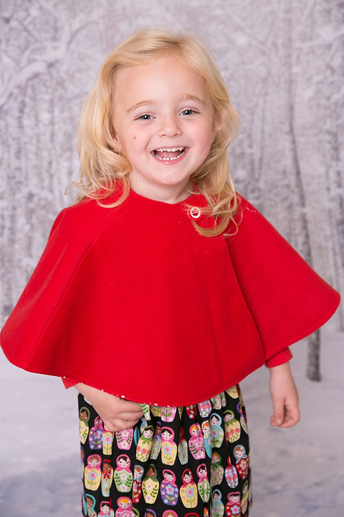 Red Reversible Cape