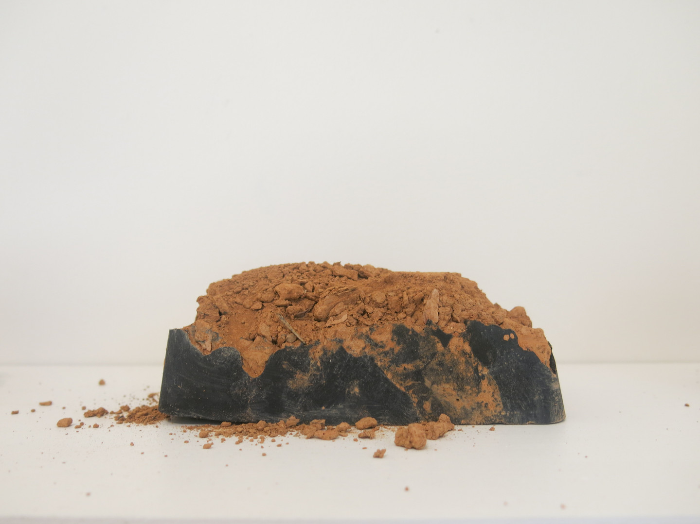 Decay Block II, 2018, Cement, clay & iron oxide sculpture, 20x15x10cm