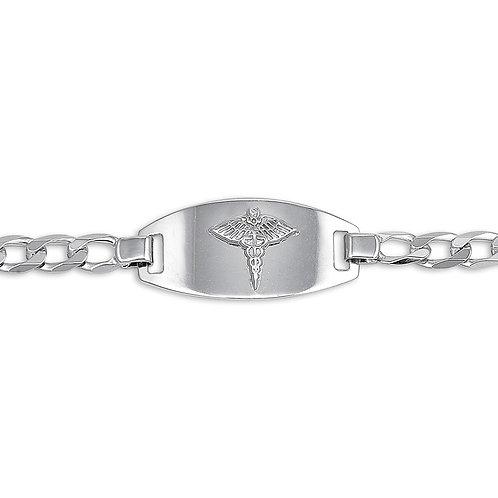 10kt White Gold Men's Medical Alert Bracelet