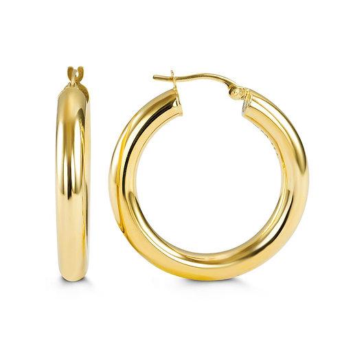 10kt Gold Hoop Earrings 29mm