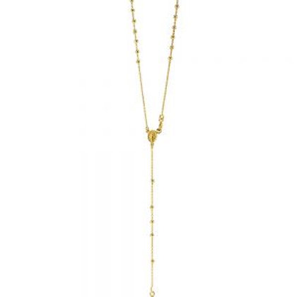14kt Gold Rosary Necklace