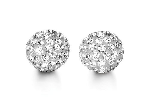 10k Gold Studs with Austrian Crystals 8mm