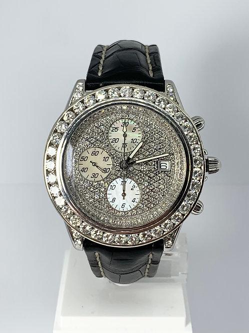 Breitling Crosswing Chronomat 9.25ct., Diamond Chronograph