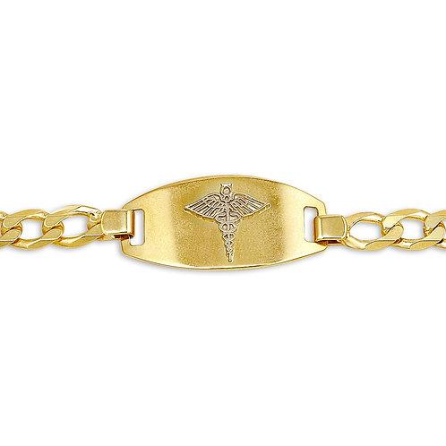 10kt Gold Men's Medical Alert Bracelet