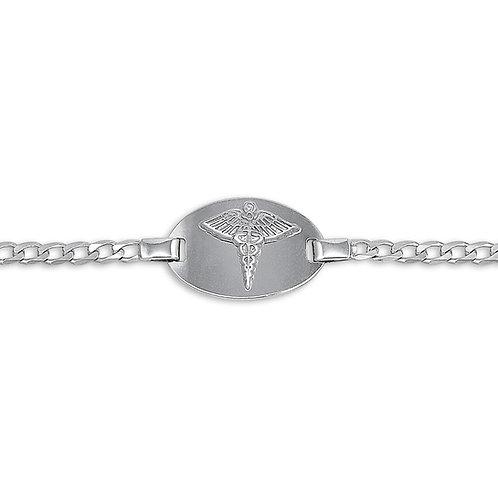 10kt White Gold Ladies Medical Alert Bracelet