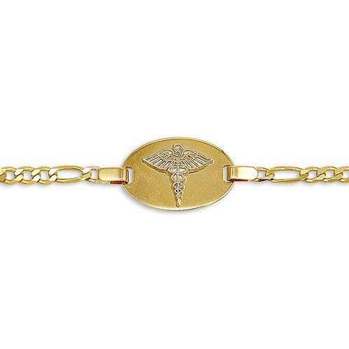10kt Gold Ladies Medical Alert Bracelet