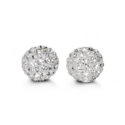 10kt Gold Studs with Austrian Crystals 10mm