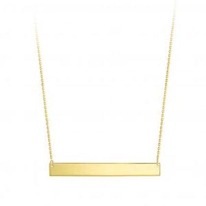 10kt Gold Bar Necklace