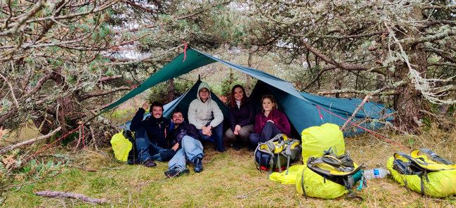 Camp bushCraft sur le mont Lozère