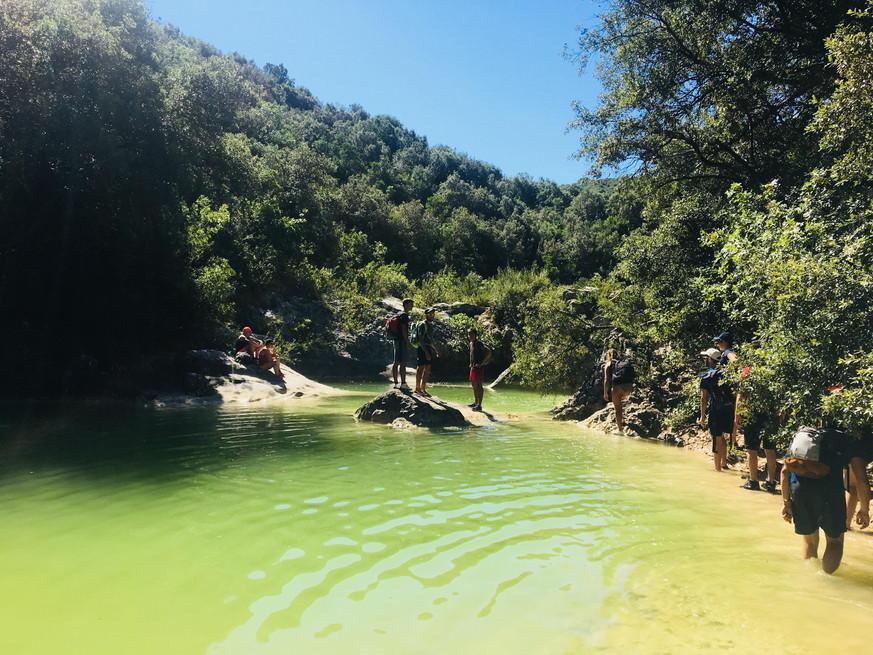 Cascade des petites Aiguières - Randonnée à la journée Gard - la vue des cimes
