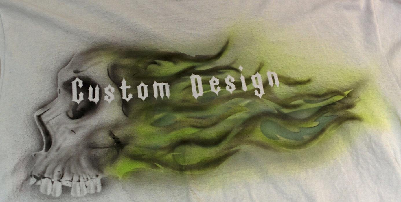 Airbrush auf Textilien   Gold 'n Dirty Custom Design   Villmar