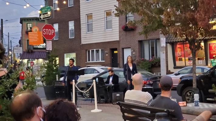 Jesus, Katrina, & Aurelien in our ePOP-Up Concert