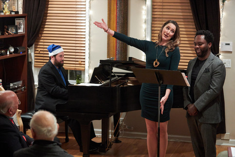 Katrina, Will, and Aurelien serve up some holiday melodies