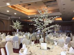 Cherry Blossom Reception Table Centre Piece