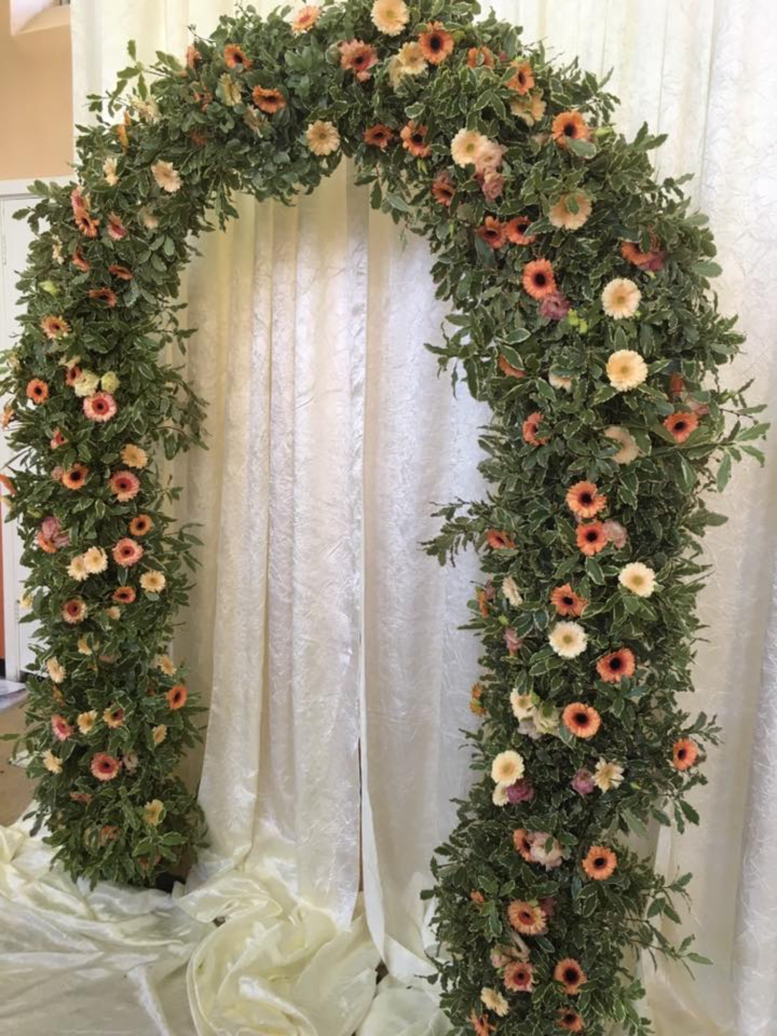 Floral Arch with Greenery 4
