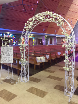 White Floral Arch 6