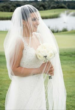Fresh Hand Tie White Rose Bridal Bouquet