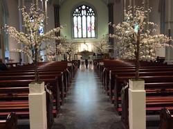 White Cherry Blossom Church Pot Plant 8