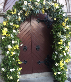 Floral Arch with Greenery