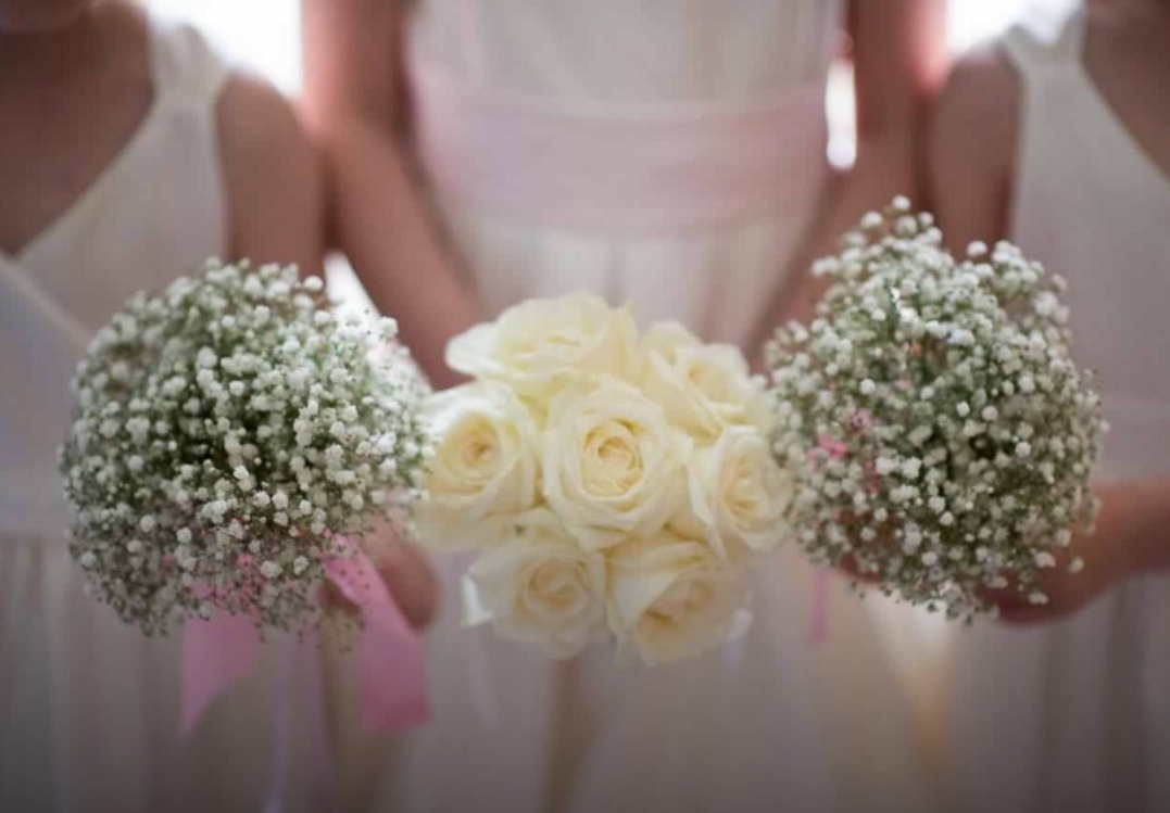 Fresh Hand Tie Bridal Party Bouquets