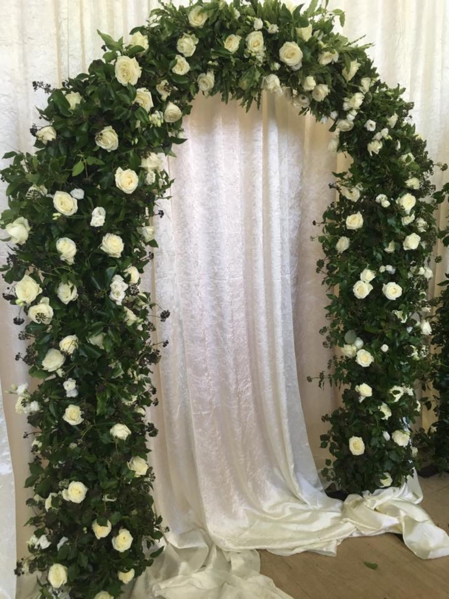 Floral Arch with Greenery 3