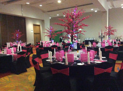 Red Cherry Blossom Reception Table Centre Piece 2