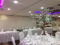 White Cherry Blossom Reception Table Centre Piece 8