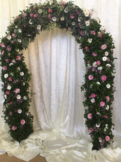 Floral Arch with Greenery 2