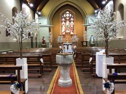 White Cherry Blossom Church Pot Plant 6