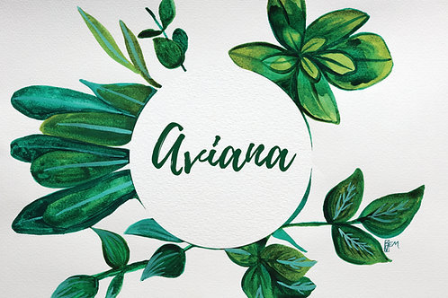 CUSTOM LEAVES WATERCOLOUR